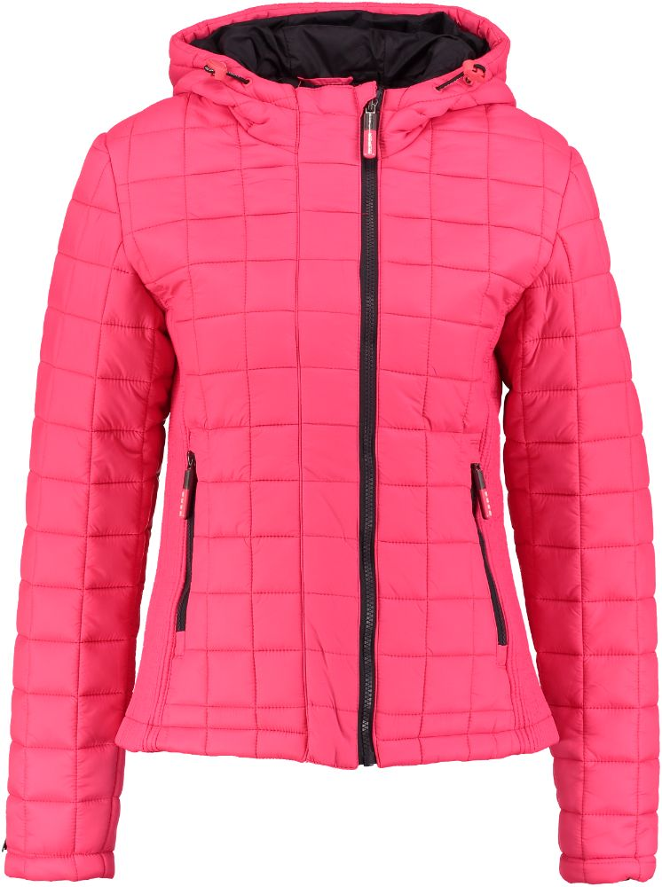 Superdry Jas HOODED BOX QUILT FUJI JACKET